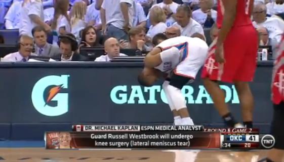 ウェストブルックが膝手術
