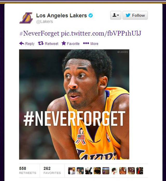 lakers 911 tweet