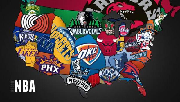 NBAチームマップ