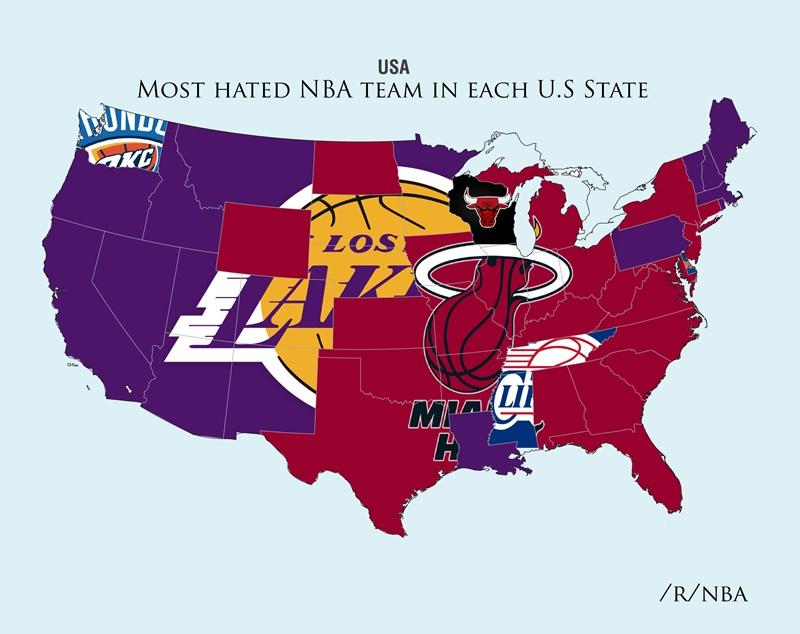 最も嫌われているチーム NBA アメリカ