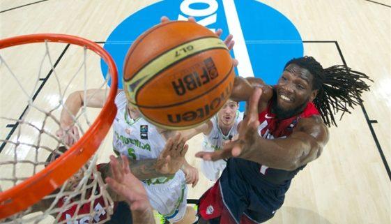 FIBA準々決勝 アメリカ対スロベニア