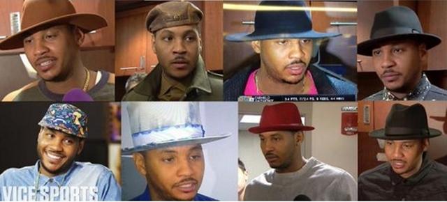 カーメロ 帽子