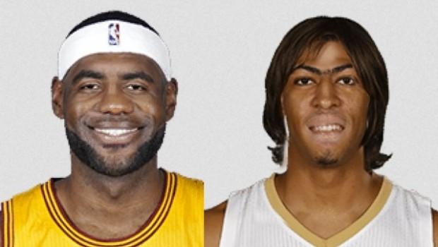 NBA選手 重ね合成