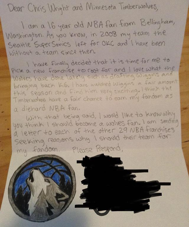 ウルブズ 手紙