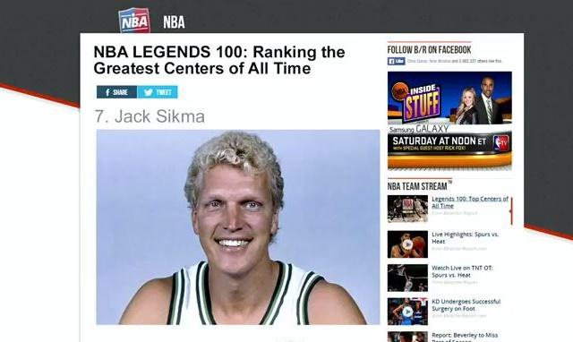 歴代センターランキング ジャック・シクマ