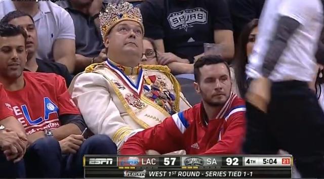 クリッパーズ対スパーズ 第3戦 王様
