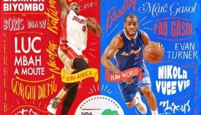 NBA アフリカ対ワールド