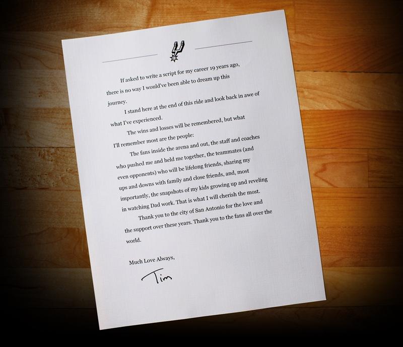 ティムからの手紙