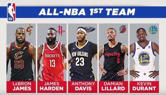 2018オールNBAチーム