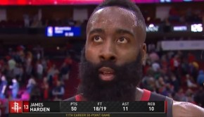 ハーデン 50得点トリプルダブル